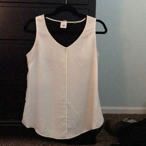 CAbi white/black blouse